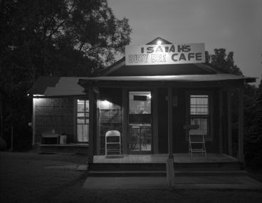Laurence Aberhart - Isaiah's Busy Bee Cafe, Oxford, Mississippi, 22 September 1988