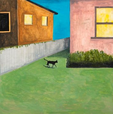 Noel McKenna - Cat in Yard at Night