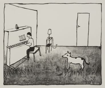 Noel McKenna - Dog with piano player