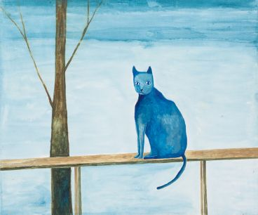 Noel McKenna - Domestic pet: cat on railing