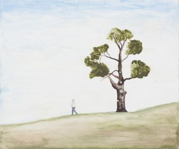 Noel McKenna - Walking figure, tree