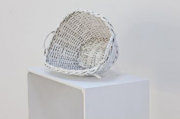 Michelle Nikou - Untitled (basket with neon)