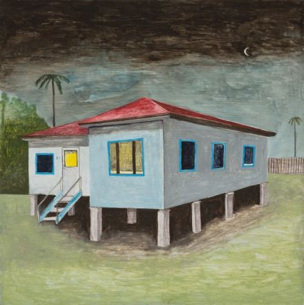 12. Noel McKenna Brisbane domestic home Oil on plywood 42 x 44cm 1