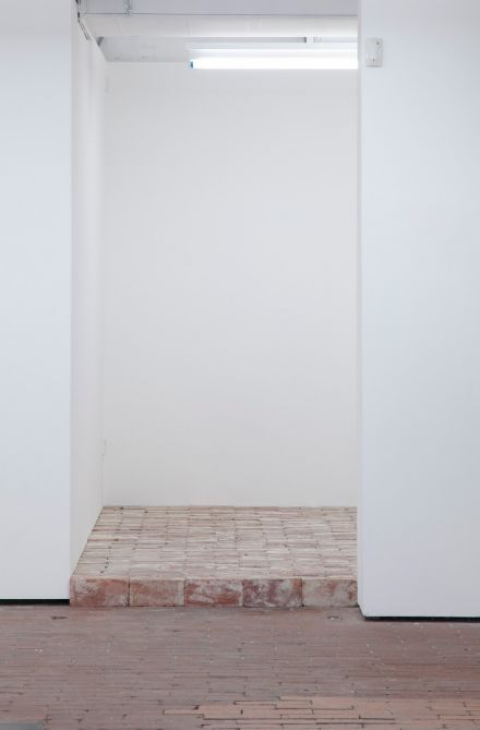Approx. 700 bricks 2015 bricks the floor space of project space.b