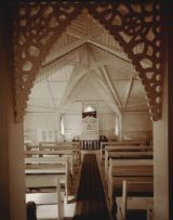 Laurence Aberhart - Interior #2, Anglican church, Pawarenga Peninsula, Whangape Harbour, Northland, 10 May 1982.e