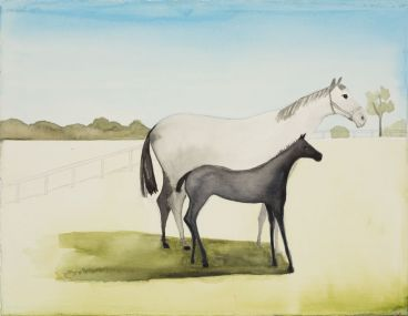 Noel McKenna - Grey mare with foal