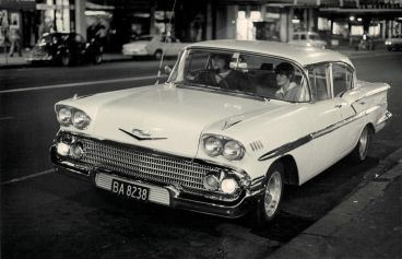 Murray Cammick - Couple in 1958 Chevrolet Bel Air BA8238