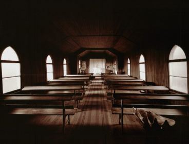 Laurence Aberhart - Interior #1, Anglican Church, Pukepoto, near Kaitaia, Northland, 13 May 1982
