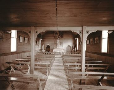 Laurence Aberhart - Interior 1, Catholic Church, Motukaraka, Hokianga Harbour, Northland, 3 May 1982