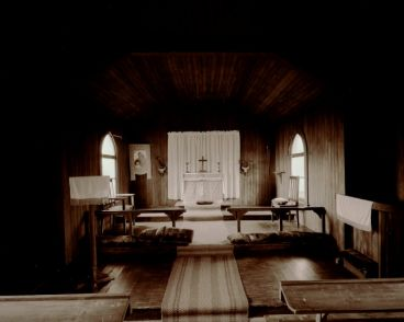 Laurence Aberhart - Interior #2, Anglican Church, Pukepoto near Kaitaia, Northland, 13 May 1982