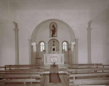 Laurence Aberhart - Interior #2, Catholic church, Lower Waihou, Hokianga Harbour, 3 May 1982