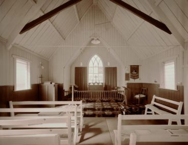 Laurence Aberhart - Interior, Anglican church, Ahipara, Northland, 15 May 1982