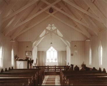 Laurence Aberhart - Interior, Aparahama Anglican Church, Kaikohe, Northland, 26 April 1982
