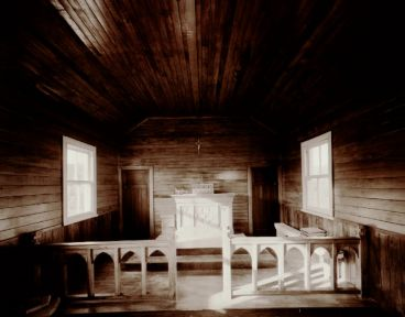 Laurence Aberhart - Interior, Catholic Church, Te Karae, Hokianga Harbour, Northland, 31 March 1985