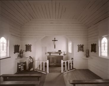 Laurence Aberhart - Interior, Catholic Church, Te Karakara, Hokianga Harbour, Northland, 30 September 1992