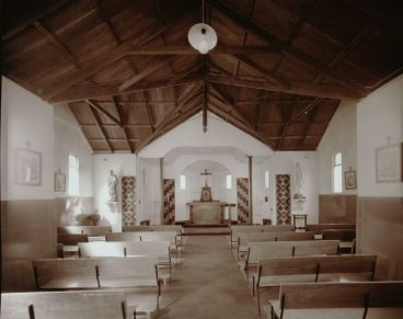 Laurence Aberhart - Interior,  Catholic church, Pawarenga, Whangape Harbour, Northland, 4 May 1982