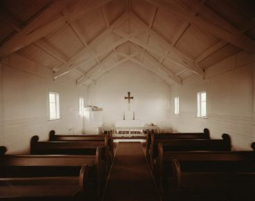 Laurence Aberhart - Interior, Church of The Transformation, Tautoro, Northland, 20 April 1982.