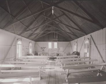Laurence Aberhart - Interior, Methodist Sunday school, Mangamuka, Northland, 17 May 1982