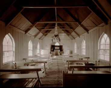 Laurence Aberhart - Interior, St Mathew's  Anglican church, Parapara, Northland, 15 May 1982