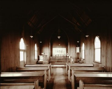 Laurence Aberhart - Interior, St. Barnabas Catholic Church, Peria, Northland, 15 May 1982