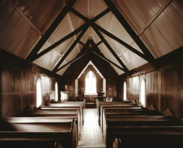 Laurence Aberhart - Interior, St. Mathew's, Oramahoe, Northland, 18 May 1982