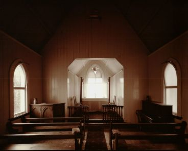 Laurence Aberhart - Interior, church #2, Maitahi, Northland, 22 April 1982