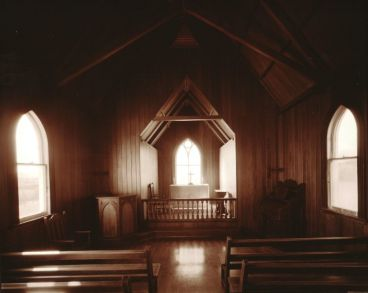 Laurence Aberhart - Interior, church,  Maitahi, Northland, 22 April 1982