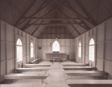 Laurence Aberhart - Interior, church, Waikare, Bay of Islands, Northland, 5 April 2006