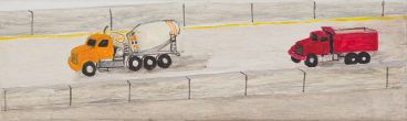 Noel McKenna - 2 Trucks, cement, red