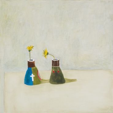 Noel McKenna - 2 yellow flowers, Vase C15