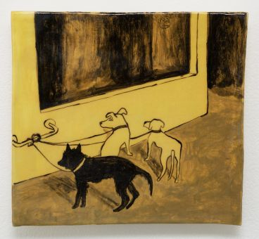 Noel McKenna - Tied up dogs Rose Bay E