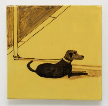 Noel McKenna - Tied up dogs Rose Bay J