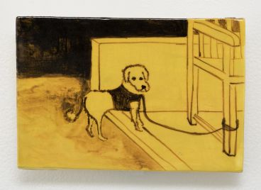 Noel McKenna - Tied up dogs Rose Bay M